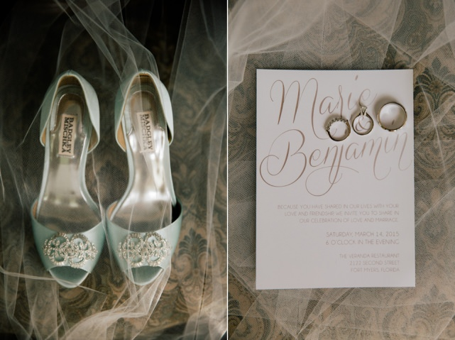 Brides Shoes Wedding Invitation Fort Myers Wedding