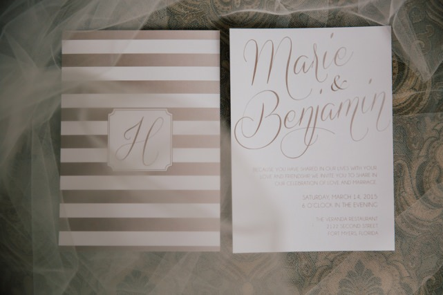 Wedding Invitation Fort Myers Wedding