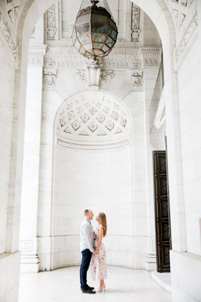 NYC Public Library Engagement Photoshoot
