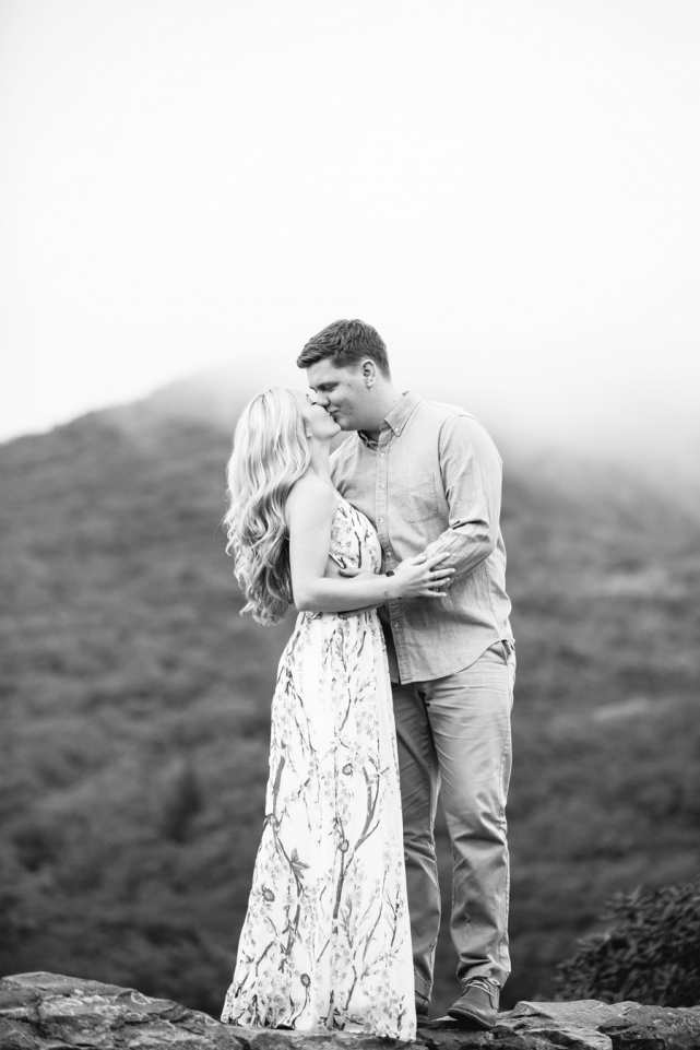 Craggy Gardens Asheville NC Engagement Photoshoot