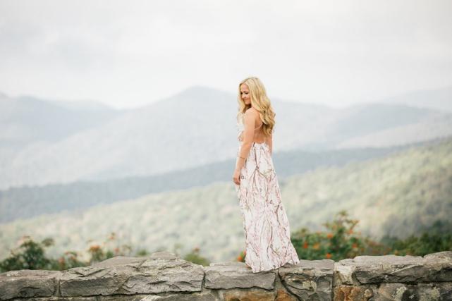 Craggy Gardens Asheville NC Engagement Photoshoot