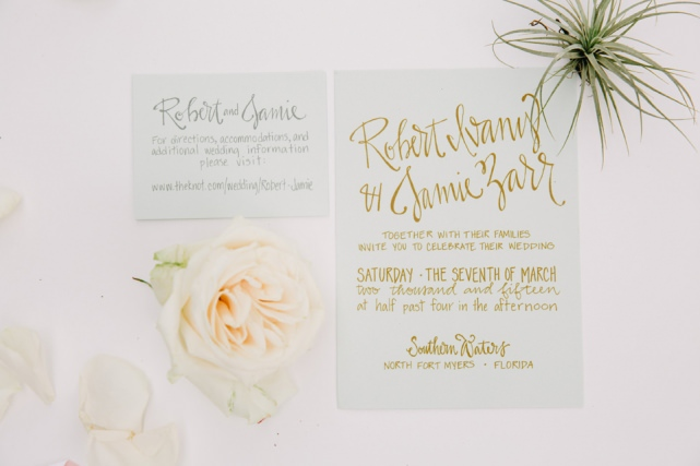 Wedding Invitation Fort Myers Wedding Florida