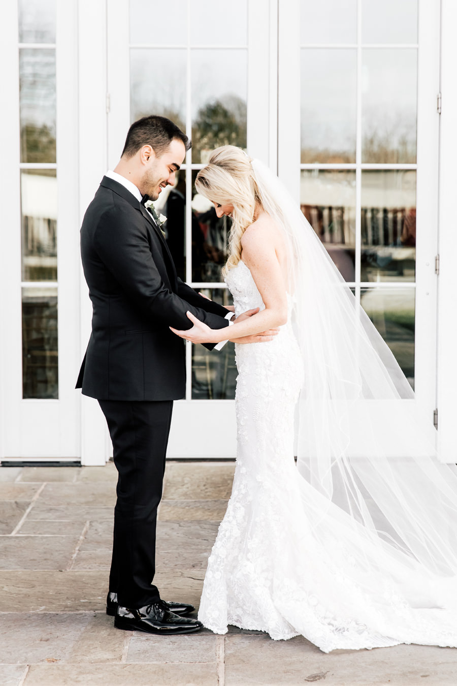 First Look on the Wedding Day - Anastasiia Photography